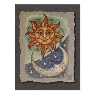 Luna y estrellas de Sun Postales