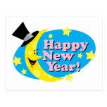 Luna y estrellas del Año Nuevo Postal