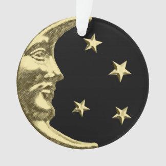 Luna y estrellas del art déco - negro y oro