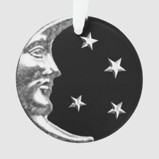 Luna y estrellas del art déco - negro y plata