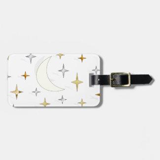 Luna y estrellas etiquetas maleta