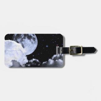 Luna y estrellas etiquetas para maletas
