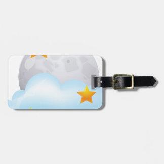 Luna y estrellas etiquetas bolsas