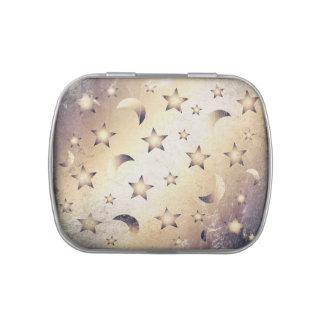 Luna y estrellas jarrones de caramelos