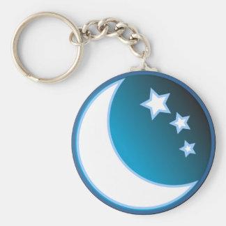 Luna y estrellas llavero personalizado