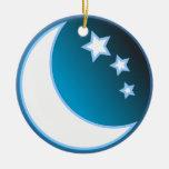 Luna y estrellas ornamentos para reyes magos