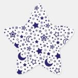 Luna y estrellas pegatinas forma de estrellaes
