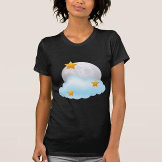 Luna y estrellas camiseta