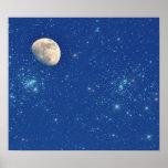 Luna y estrellas posters