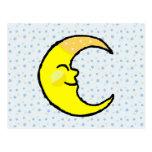 Luna y estrellas tarjeta postal