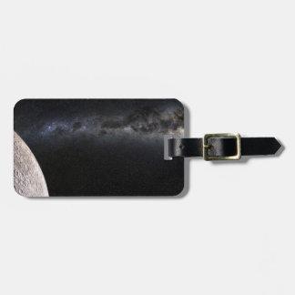 Luna y galaxia etiquetas maleta