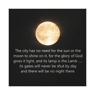 Luna y noche de la revelación 21 no más lona estirada galerias