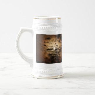 Luna y nubes de cirro taza de café
