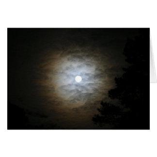 Luna y nubes tarjeta de felicitación