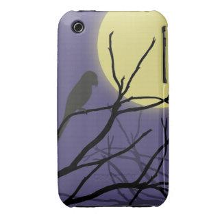 Luna y pájaro de la noche iPhone 3 Case-Mate carcasas