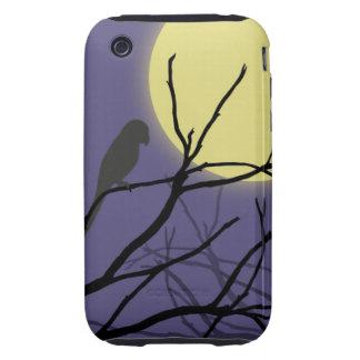 Luna y pájaro de la noche iPhone 3 tough coberturas
