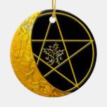 Luna y pentáculo crecientes #11 del oro ornamente de reyes