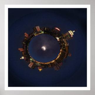 Luna y poster de New York City Planetoid