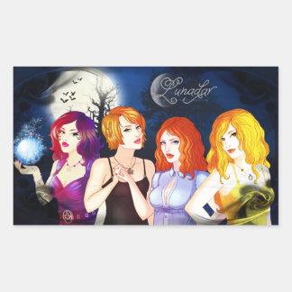 Lunadar: Sarah, Nadira, Ariana & Selina Pegatina Rectangular