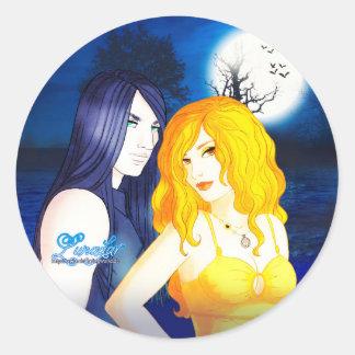 Lunadar: Selina & Damien Classic Round Sticker
