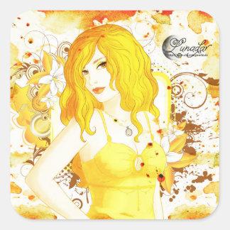 Lunadar: Selina Matar Square Sticker