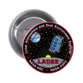 Lunar Atmosphere & Dust Environment Explorer LADEE Pinback Buttons