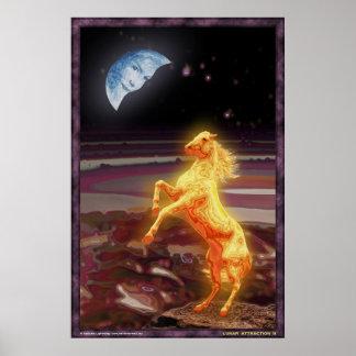 Lunar Attraction (weird edition) Poster