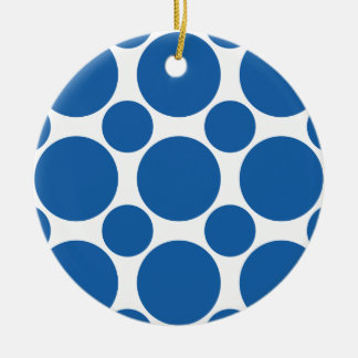 Lunar azul 2 del deslumbramiento adorno de navidad