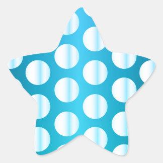 Lunar azul brillante pegatina en forma de estrella