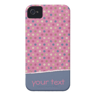 Lunar azul color de rosa iPhone 4 cárcasa