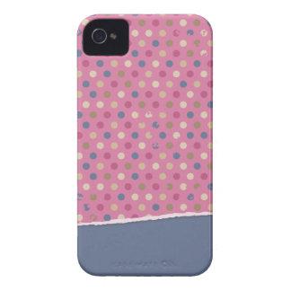 Lunar azul color de rosa iPhone 4 Case-Mate cobertura