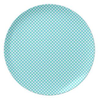 Lunar blanco en azul platos
