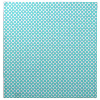 Lunar blanco en azul servilletas imprimidas