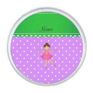 Lunar blanco púrpura personalizado de la bailarina