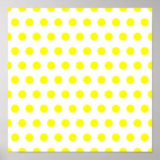 Lunar blanco y amarillo póster