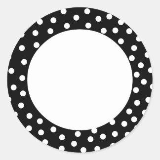 Lunar blanco y negro pegatinas