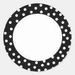 Lunar blanco y negro pegatina redonda