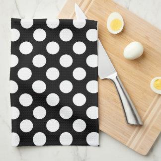 Lunar blanco y negro toallas de cocina