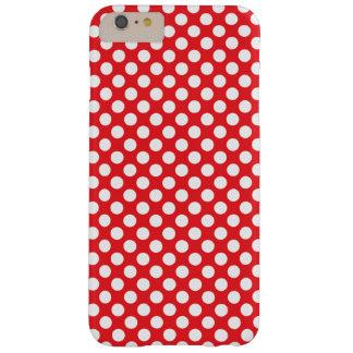 Lunar blanco y rojo funda de iPhone 6 plus barely there