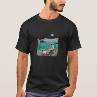 Lunar Colony Astronaut Dog T-Shirt