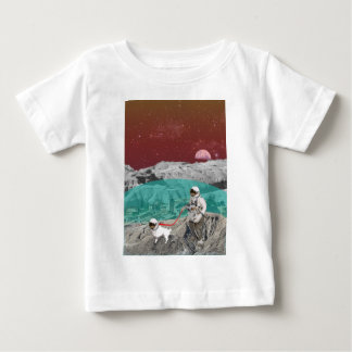 Lunar Colony Astronaut With Dog Baby T-Shirt