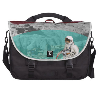 Lunar Colony Astronaut With Dog Laptop Bags