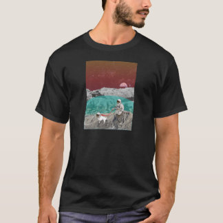 Lunar Colony Astronaut With Dog T-Shirt