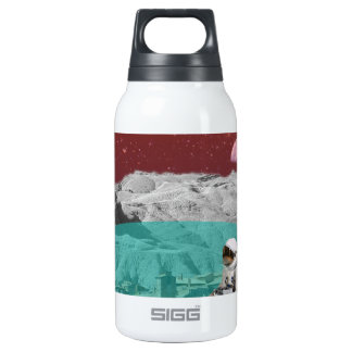Lunar Colony Astronaut With Dog Thermos Water Bottle