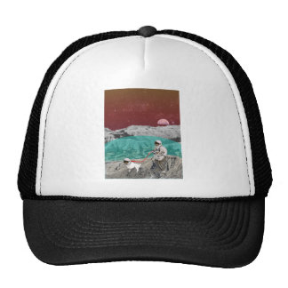 Lunar Colony Astronaut With Dog Trucker Hat