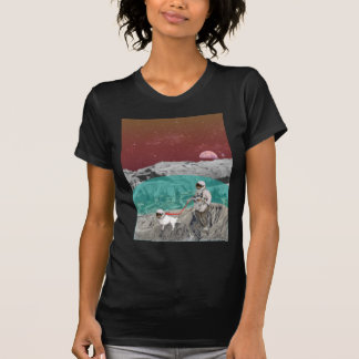 Lunar Colony Astronaut With Dog T Shirt