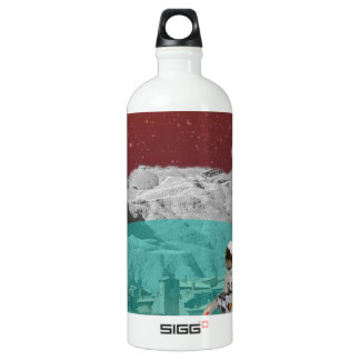 Lunar Colony Astronaut With Dog Water Bottle