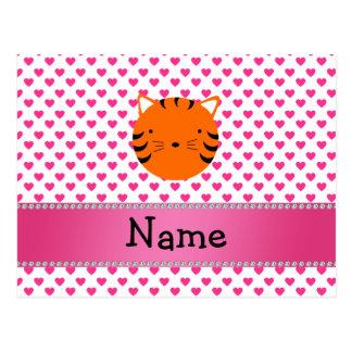 Lunar conocido personalizado de los corazones del tarjetas postales