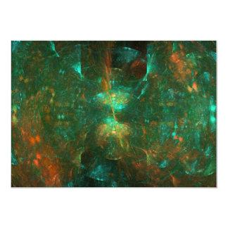 """""""Lunar Cove"""" Fractal Art 5"""" X 7"""" Invitation Card"""