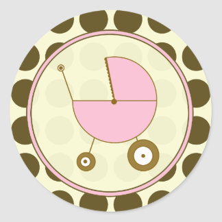 Lunar de Brown y pegatina rosado del carro de bebé
